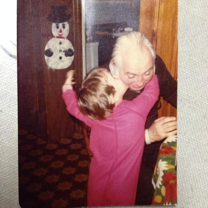 with my grandfather, 1980.