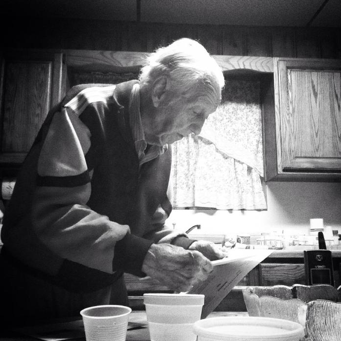 The last picture I took of my grandfather a few weeks before he passed away.
